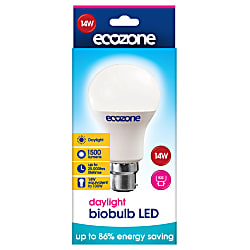 daylight biobulb led b22 fitting 14 watts