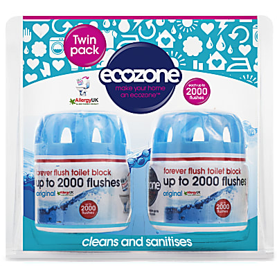 original toilet block - forever flush twin pack