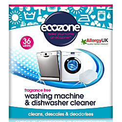 Fragrance Free Washing Machine & Dishwasher Cleaner (36 tablets)