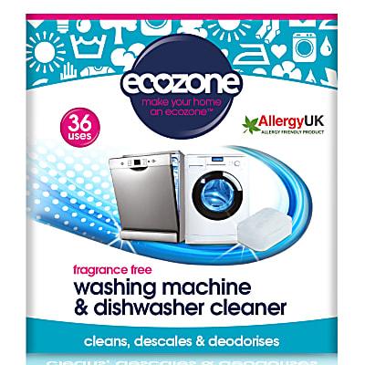 Fragrance Free Washing Machine & Dishwasher Cleaner (36 tablets)
