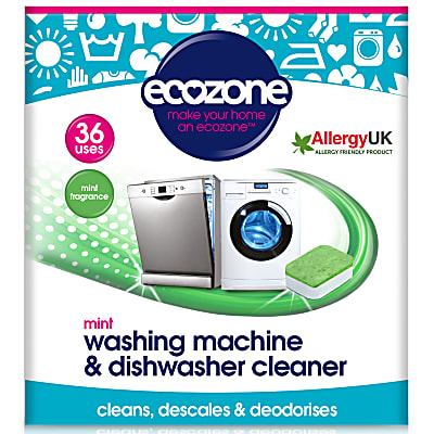 Ecozone Mint Washing Machine & Dishwasher Cleaner (36 tablets)