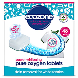 Pure Oxygen Whitener Stain Removal Tabs for Whites - 48 tabs