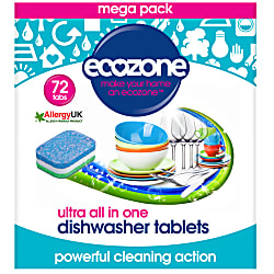 ultra all in one dishwasher tablets - 72 tabs